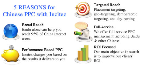5 reasons why you should choose Incitez for Chinese PPC management